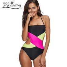 dd18045923 VGTOWN Plus Size One Piece Women Swimwear Swimsuit Colorblock Swimwear Open  Back Boyshort Bathing Suits Bikini. 2 Colors Available