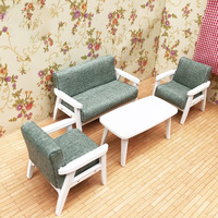1:12 Wooden dollhouse Furniture Toys for dolls doll house Miniature Furniture sofa children Pretend Play toy for girls gifts new