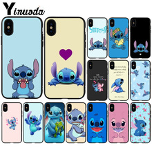Yinuoda cute cartoon Lilo Stitch DIY Painted Phone Accessories Case for Apple iPhone 8 7 6 6S Plus X XS MAX 5 5S SE XR Cover