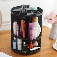 360 degree Rotating Makeup Tools Organizer Box Brush Holder Organizer Case Jewelry Makeup Cosmetic Storage Box Accessories