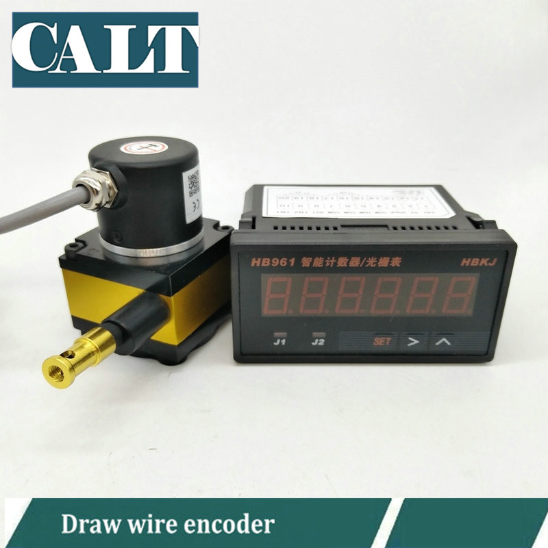 1000mm Linear draw wire encoder distance measuring cable motion transducer with 6 Digital Counter Display Table HB9611000mm Linear draw wire encoder distance measuring cable motion transducer with 6 Digital Counter Display Table HB961
