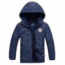 Brand Children Outerwear Coat Sporty Kids Clothes Double-deck Waterproof Windproof Boys Girls Jackets For 3-12T