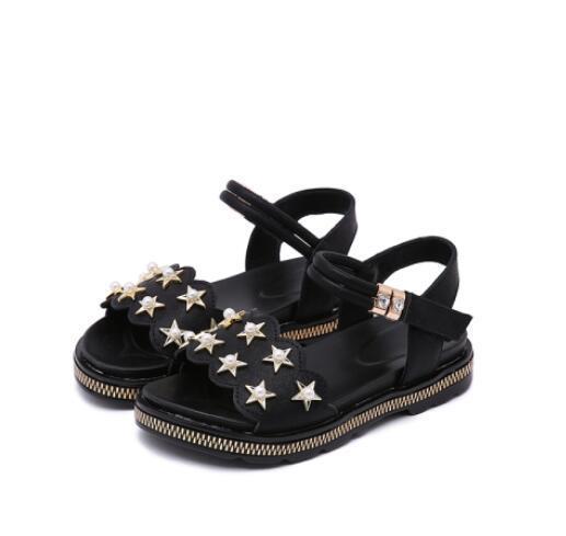 2018 New Girl Sandals Pearl Fashion Kids Shoes Rhinestone Children Sandals Girls Princess Summer Sandals