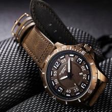 24e418b0d22 Auto Data Mens Sports Relógios EYKI Marca de Luxo Da Moda Couro Preto  Militar À Prova D  Água Relógio de Quartzo Relógio Relogio.
