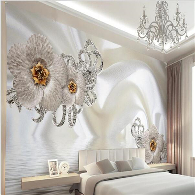 Beibehang 3d Wallpaper Home Decoration Photo Background Photography Silk Cloth Diamond Hotel Bathroom Mural Art