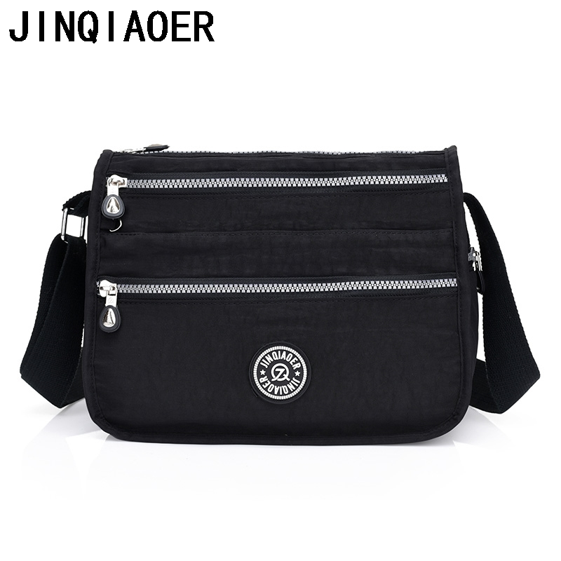Women New Messenger Bags Nylon Female Shoulder Bag Shoulder Crossbody Bags Fashion Ladies Handbags School Bags Sac A Main jinqiaoer women messenger bag high quality ladies handbags shoulder bag for women nylon crossbody bags female bolsas sac a main