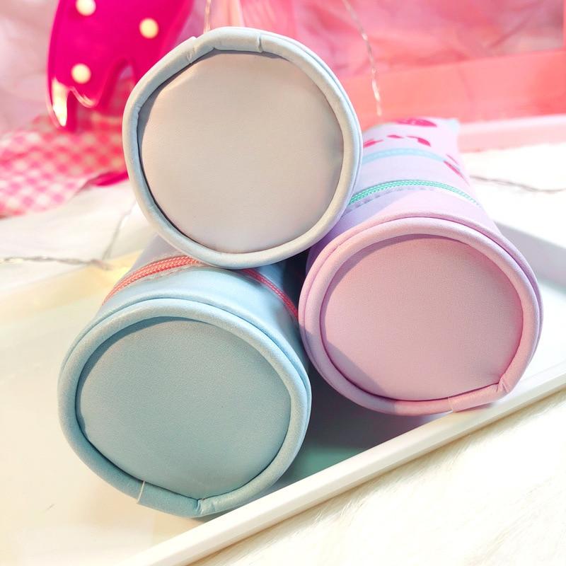 Купить с кэшбэком Creativity Stereoscopic Toothpaste Pencil-case PU Flamingo Strawberry School Supplies Korean Stationery Gift for Girl BD022D