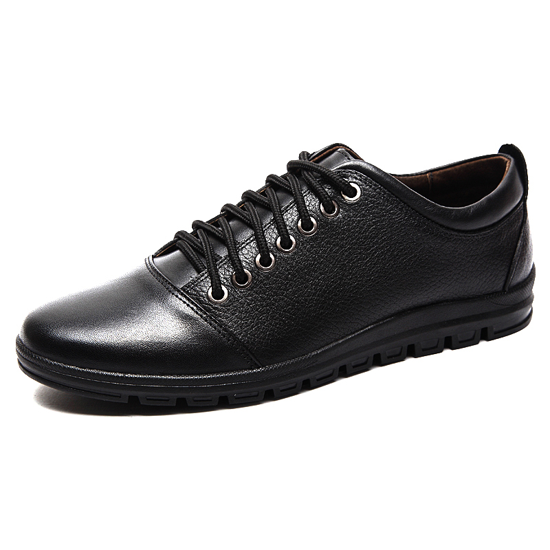ФОТО 2016Business Men's Basic Flat Shoes Genuine Leather Gentle Wedding Dress Luxury Brand Formal Wearing British Men Casual