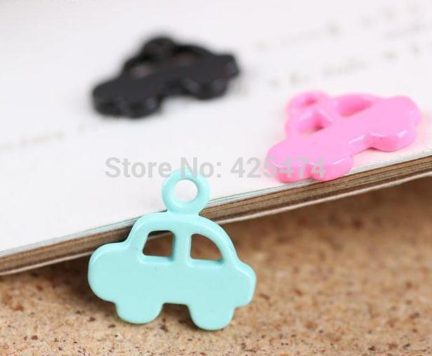 Newest Mini order 20pcs mixed 18*19mm drop of candy colors car shape pendant Floating locket necklace pendant diy bracelet charm