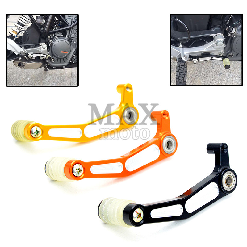 Motorcycle Brake Clutch Gear Pedal Lever brake shift lever for KTM duke 200 / 390 CF400 duke 200 duke 390 duke200 duke390 CF 400 for ktm duke rc 125 200 390 motorcycle cnc foot brake pedal lever gear shift levers orange