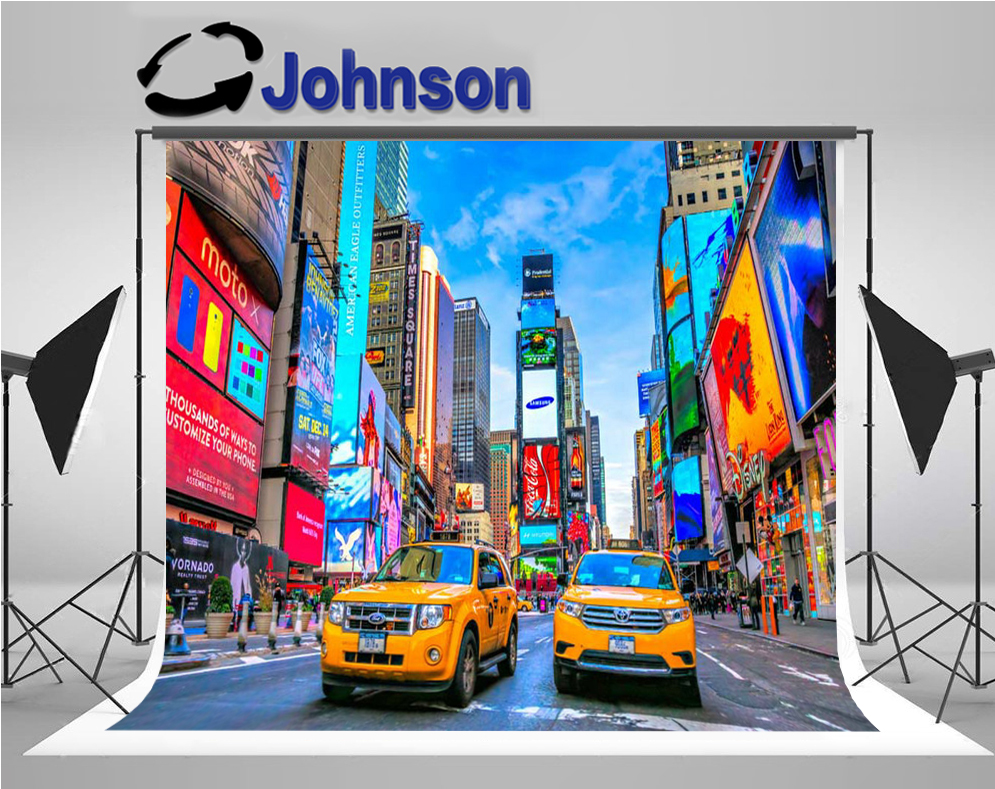 New York City times square backdrops Vinyl cloth High quality Computer print party photo studio background