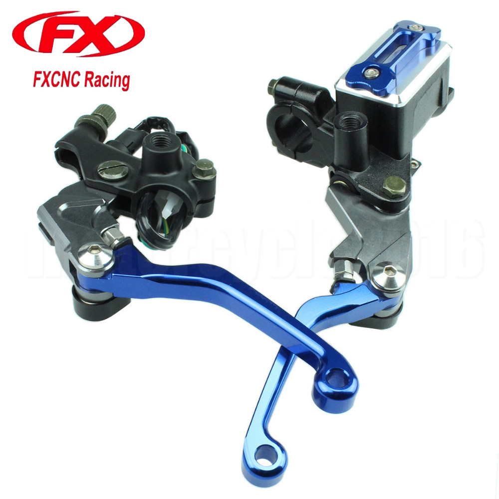7/8 Motocross Dirt Bike Hydraulic Cylinder Reservoir Brake Clutch Lever For Honda CRF 150R 2007-2014 For Yamaha YZ250 01-15 7 7 7 15 150