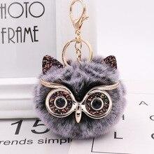 ZOEBER Pompom Keychain Trendy Animal Shape Owl Keychain Love