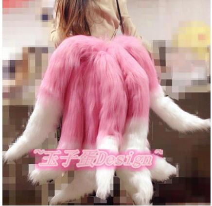 2017 Sexy Fox LOL Ahri Tail Dynasty Ahri Nine Tailed Lol Cosplay Costumes Adult Women Anime Halloween Carnival Cosplay Costumes 5
