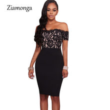 8aa2c729ca Ziamonga Alibaba Express Sexy Elegant Evening Party Bodycon Dress 2018 Hot  Fashion Floral Lace Sexy Dress Cheap Clothes China