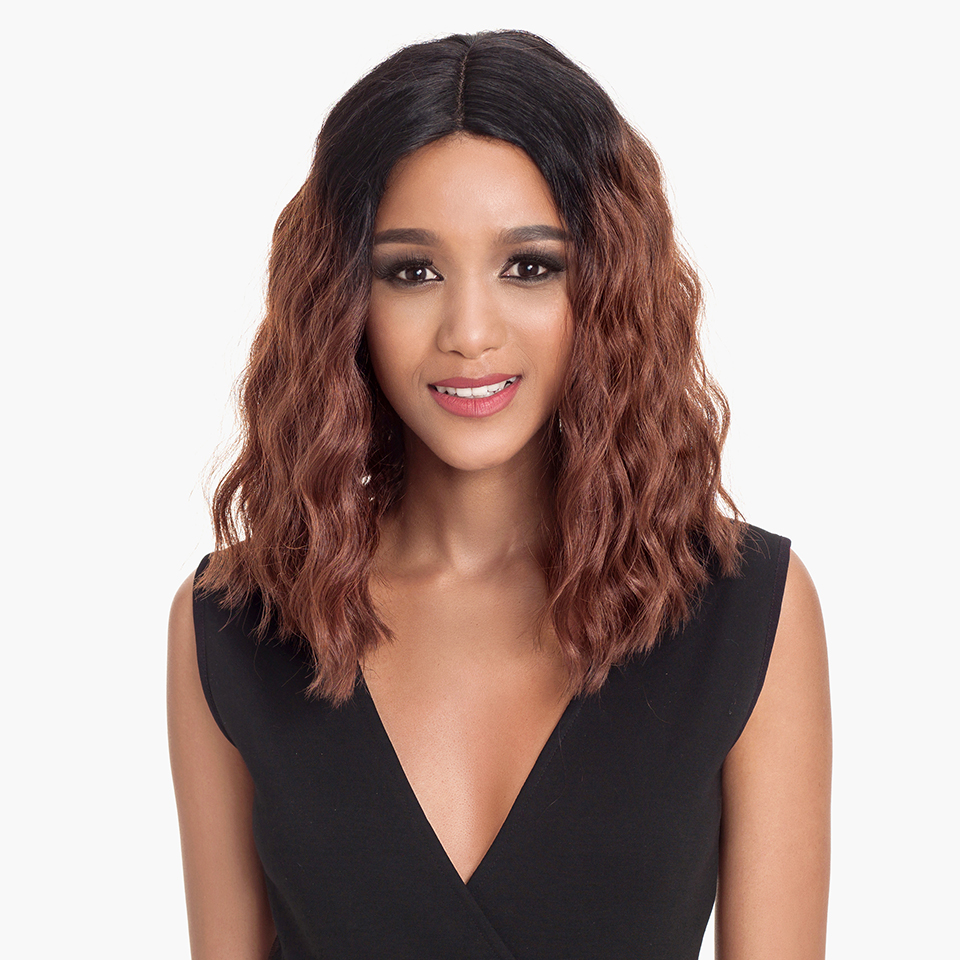 Magic Hair Synthetic Lace Front Wigs For Black Women 14Inch Heat Resistant  Fiber Wigs Ombre For Women Ombre Deep Wavy Hair