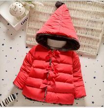 Девушки зимнее пальто Бесплатно Shippinnew дети 2016 Зимние пальто Верхняя Одежда хлопка мягкой одежды Вниз Пальто Для ребенка