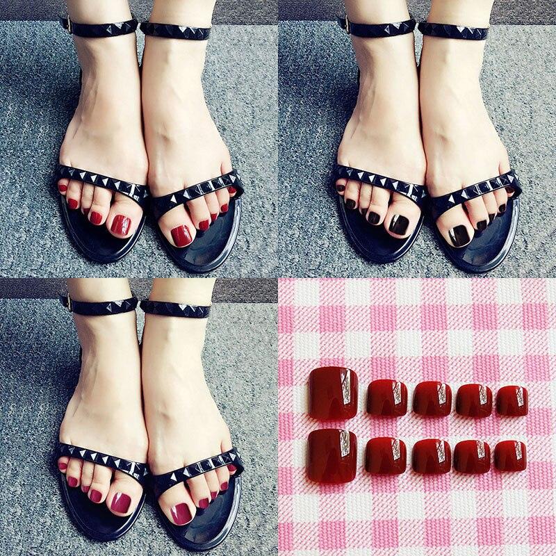 Online Shop Simple fashion 24pcs/set finished false nail girl,Black ...