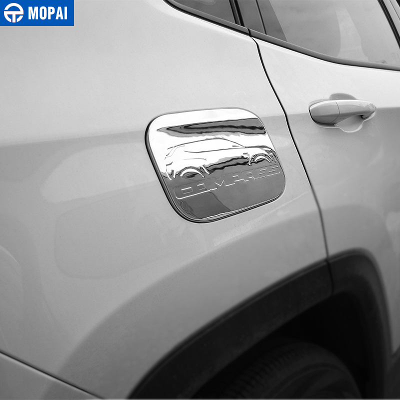 Image 3 - MOPAI ABS Car Exterior Oil Gas Fuel Tank Cap Cover Decoration Trim Stickers for Jeep Compass 2017 Up Car Accessories Styling-in Tank Covers from Automobiles & Motorcycles