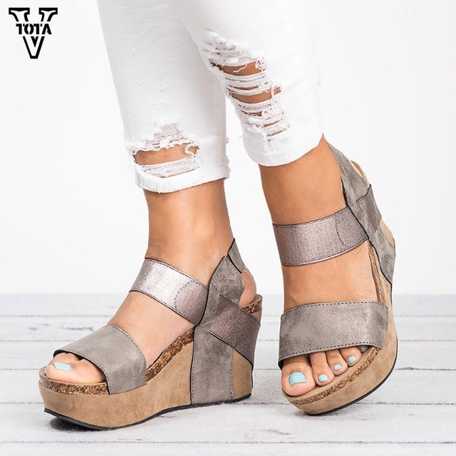 585bdc4710be VTOTA New Women Sandals Gladiator Summer Shoes Wedges Sandalias Mujer High  Heels Chaussure Femme Soft Women Party Shoes MNS