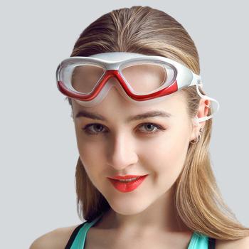 9eca4319ec9 Custom Review Professional diopter Swimming Goggles Myopia Anti-fog  Silicone Waterproof optical Glasses With Earplug Men Women swim eyewear