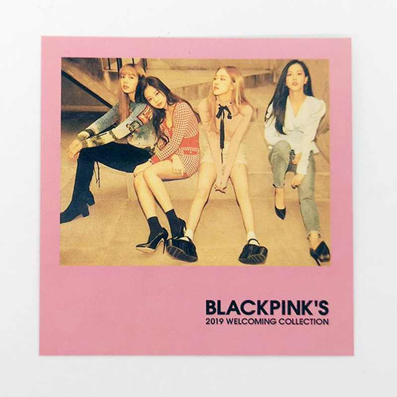 5Pcs/Set K-POP BLACKPINK  Album SQUARE UP TWICE Album SUMMER NIGHTS Self Made Paper Lomo Card Photo Card  Photocard