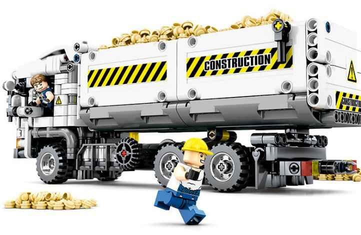 799 قطعة تكنيك الهندسة شاحنة اللبنات متوافق Legoinglys مركبة سيارة الطوب التعليمية DIY لعب للأطفال
