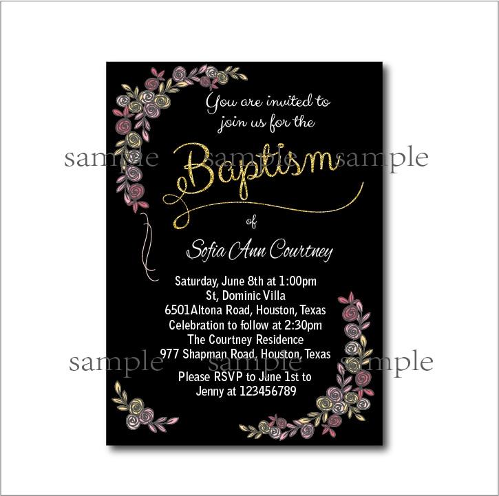 20pcs/lot Vintage Baptism Invitation Baby shower Birthday Invites ...