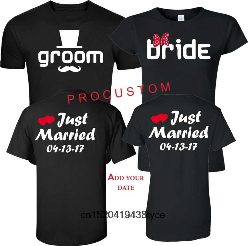 5d71630b20 Buy just married t.shirt and get free shipping on AliExpress.com