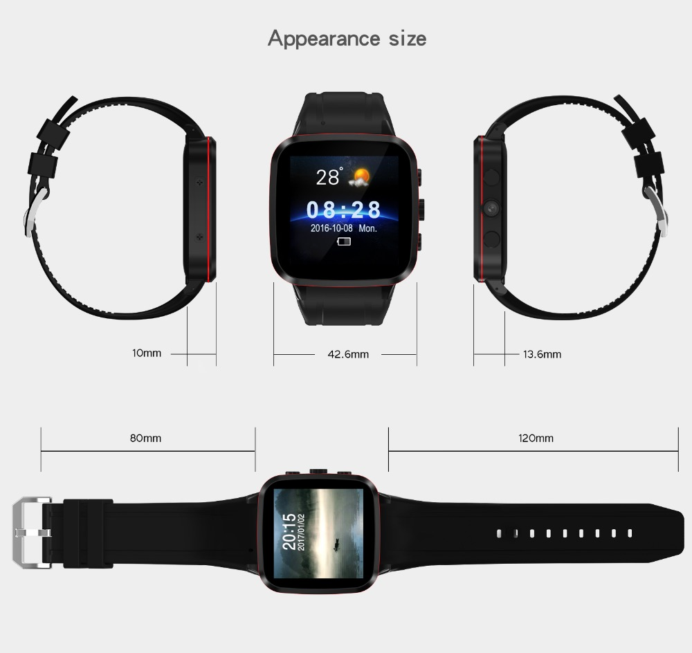 Android 3G Smart Watch N8 SIM Card Watch Phone GPS WiFi Bluetooth4.0 Pedometer Camera Video MTK6580 SmartWatch android 5 1 smartwatch x11 smart watch mtk6580 with pedometer camera 5 0m 3g wifi gps wifi positioning sos card movement watch