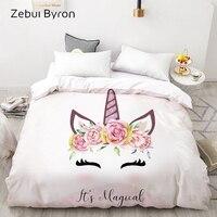 Duvet capa de edredon personalizada 3d hd  edredon  colcha  cobertor  queen  king coroa de unicórnio de desenho  cama 200x200x para bebê/crianças
