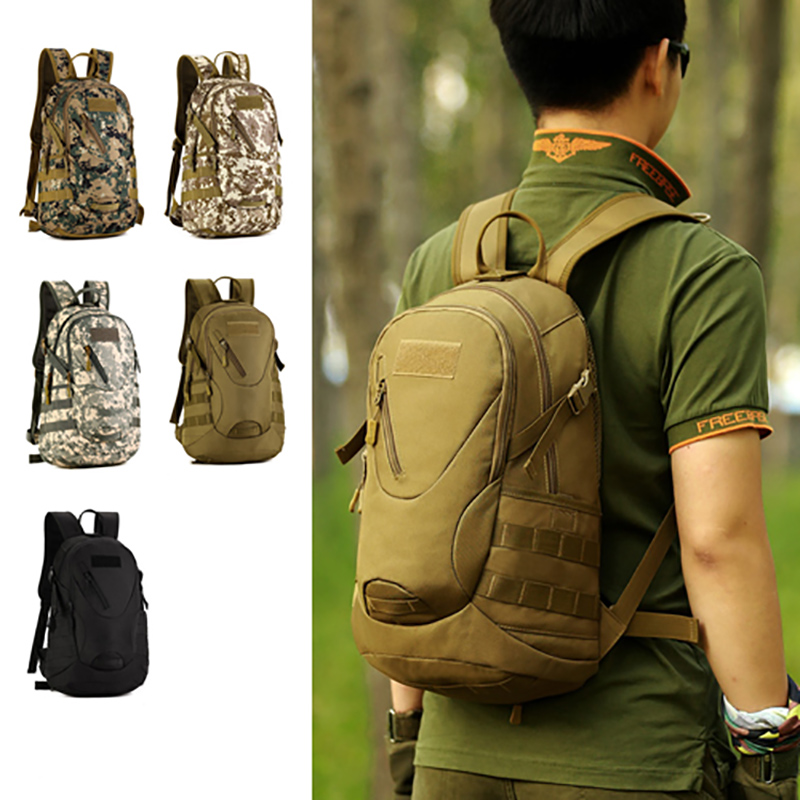 <font><b>20L</b></font> Outdoor Military Tactical Molle Army Bag Waterproof Traveling Cycling <font><b>Backpack</b></font> Camping <font><b>Hiking</b></font> Rucksack Durable School Bag image
