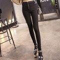Новинка женщины осень брюки карандаш леггинсы узкие фитнес-хай-стрит талии молния эластичный Pantalon Jadea Mujer брюки Большой размер