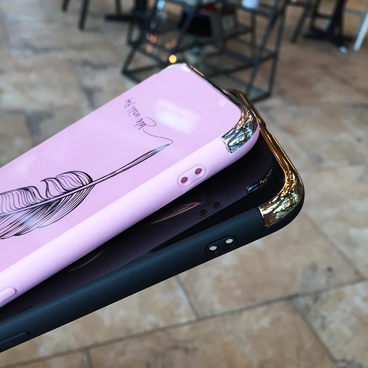 coque iphone xr plume miroir