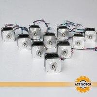 Бесплатная в ЕС 10 оси nema 17 шаговый двигатель 48 мм 1.3A/73oz in 48 мм 17HS4417 для 3D принтера