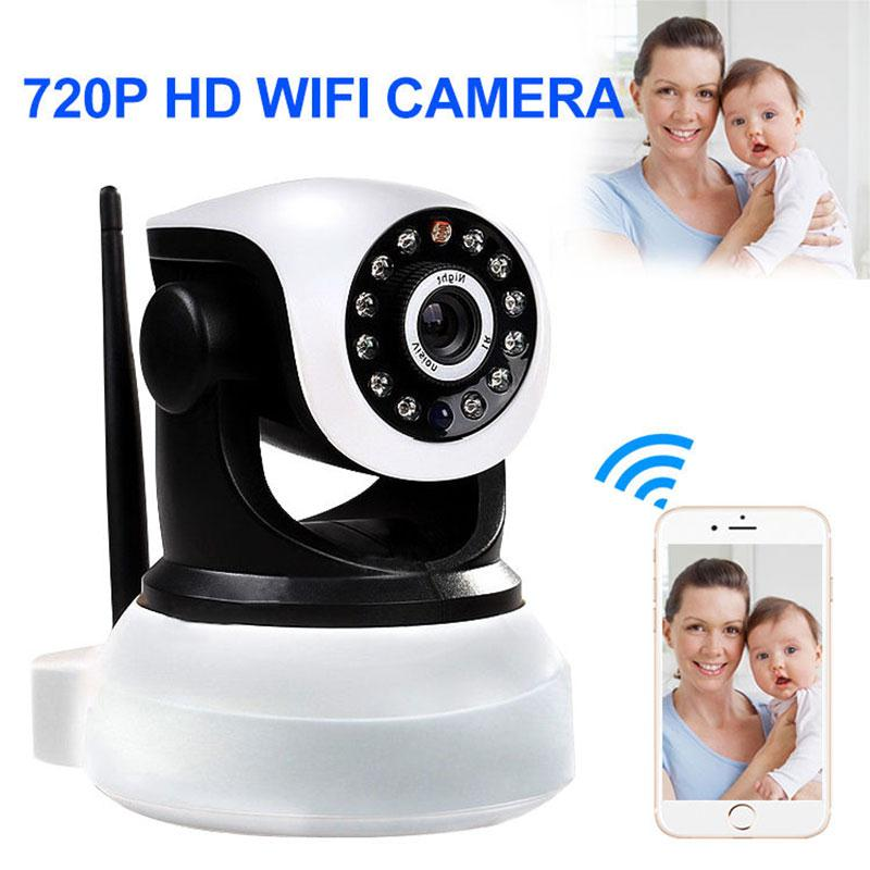 Wireless 720P Pan Tilt WiFi Network Home Security CCTV IP Camera IR Night Vision Webcam Two Way Audio sacam cctv home security wifi wireless ip camera pan tilt hd 720p ir cut night vision with two way audio ptz network webcam