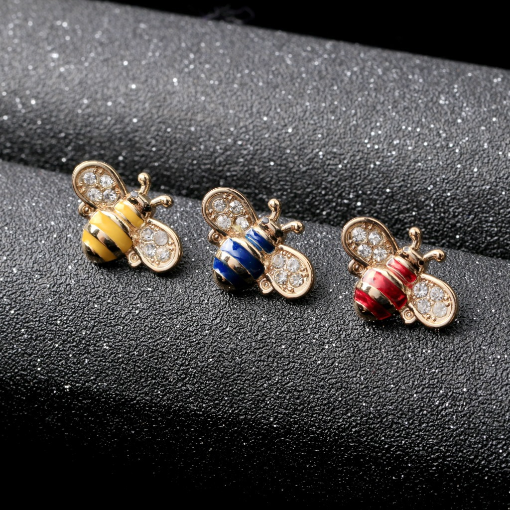 High Grade Vintage Cute Bees Brooch Gold & Silver Small
