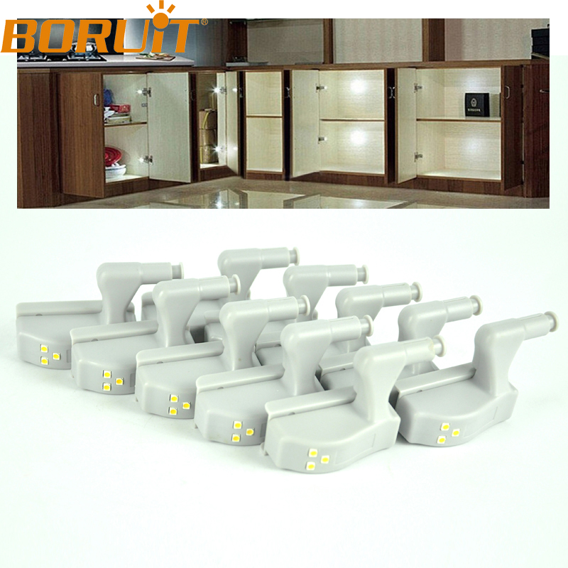 10pcs /Lot Home Universal Cabinet Cupboard Hinge Cold White s
