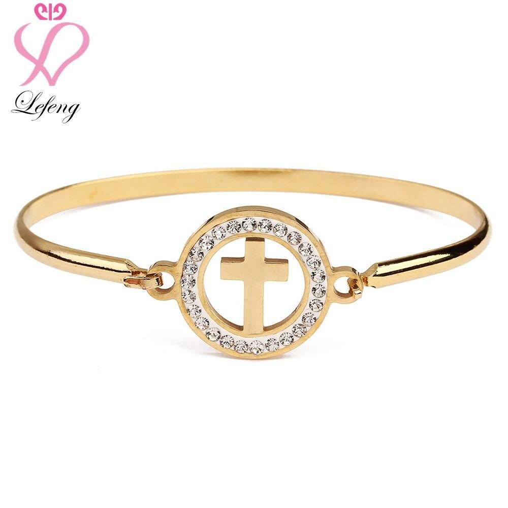 Lefeng Нержавеющаясталь покрытия золотой браслет с различными Тип Шарм для матерей День подарков