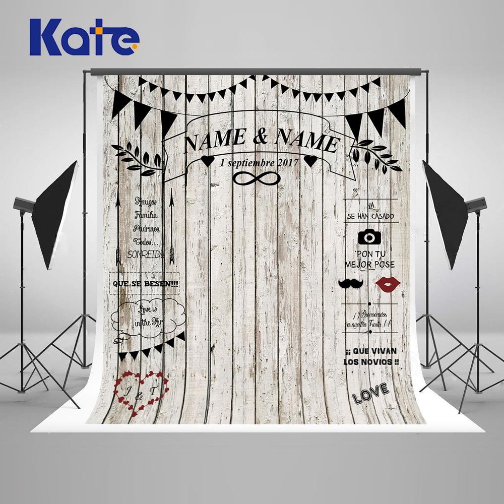 KATE 8X8FT Wedding Photography Backdrops White Wood Photocall for Weddings Fondo Photocall Photo Background for Photo Studio