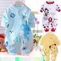 2015 одежда младенца комбинезон Несколько цветов мальчиков/девочек одежда Чистого хлопка Новорожденных Осень С Длинным рукавом детская одежда 0-9 М