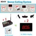 Hospital, gestão de cozinha fila sistema de chamada sem fio teclado numérico display, 1 K-999 + 2 K-2000A