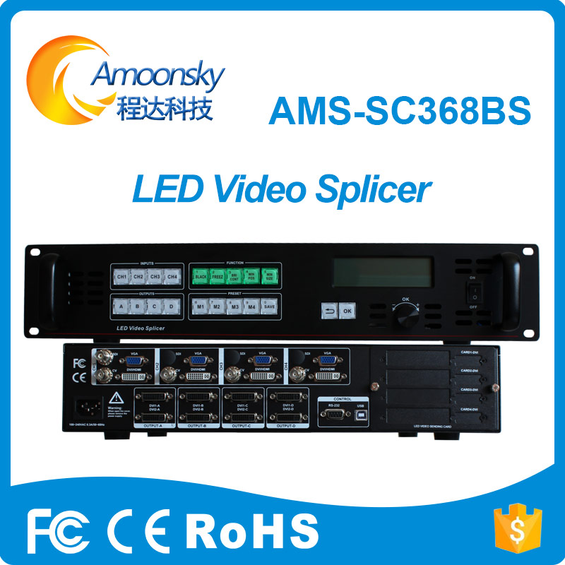 Audio & Video Replacement Parts Amoonsky Sc368bs Led Display Screen Video Processor Support Linsn Ts802d Nova And Colorlight Sending Card Work With P10 Module Curing Cough And Facilitating Expectoration And Relieving Hoarseness Display Screen