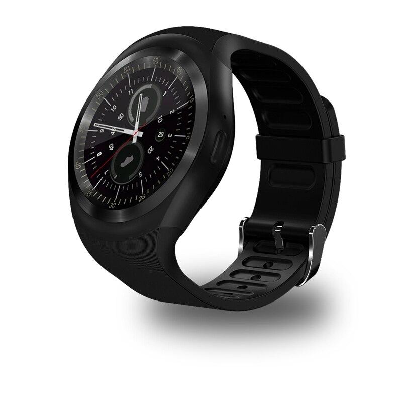 Na venda Y1 círculo tela Smart Watch Fitness Tracker suporte Nano SIM Card TF Card para Apple iPhone HTC Xiaomi telefones Android meanit m5