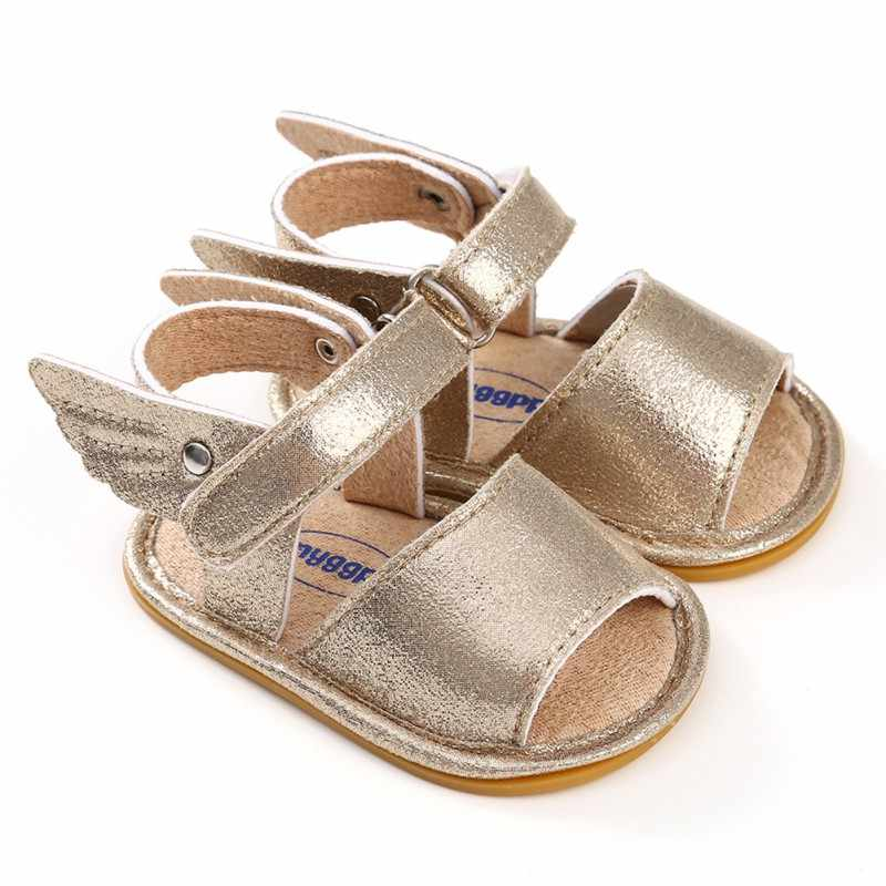 f331044451183 New Summer Baby Sandal Boys Girls Shoes Solid Wing Fashion Shoes Newborn  Infant Toddler Soft Rubber