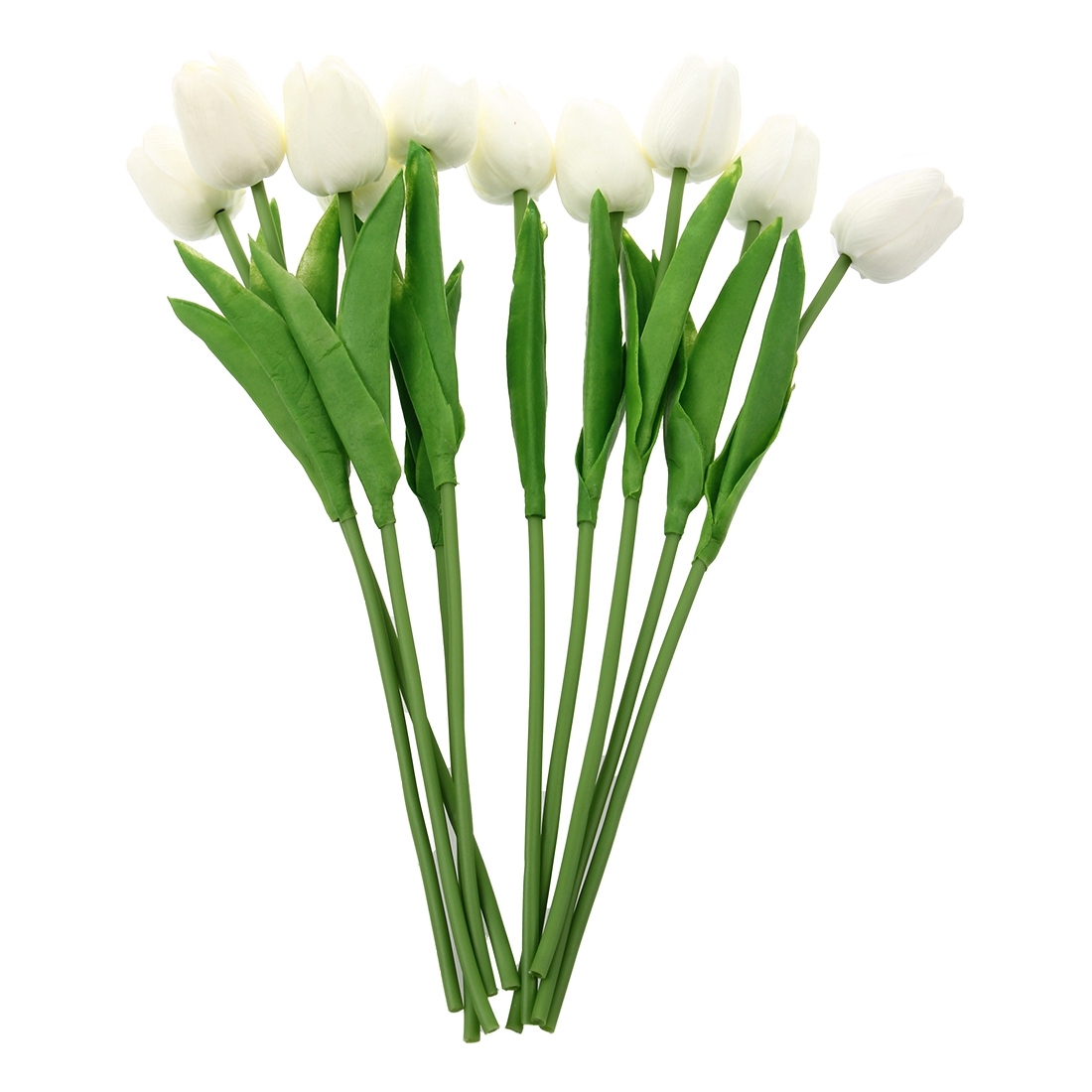 Compare prices on white tulip flowers online shoppingbuy low 10 pcs white tulip flower latex real touch for wedding bouquet kc456china dhlflorist Image collections