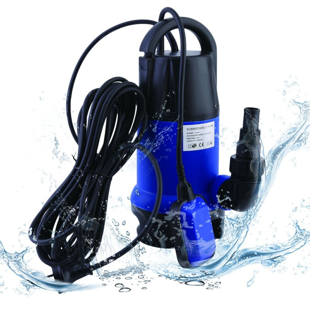 1100W Heavy Duty Electronic Submersible Dirty Water Pump Bore Sewage Septic Sewerage Tank 16500L/h For Pool Pond AU Plug stainless steel sewage export to 56 countries 100m3 h electric submersible sewage pump