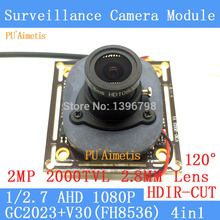 PU Aimetis 2MP 1920 1080 AHD CCTV 1080P night vision Camera Module 1 2 7 2000TVL