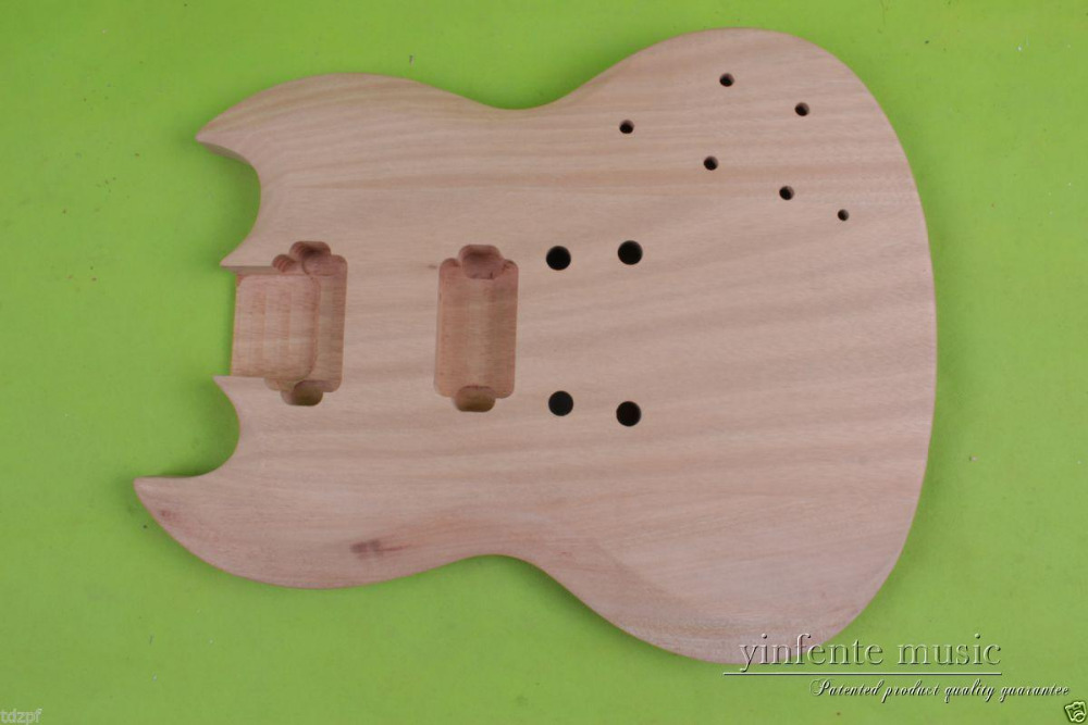 Top Solid Body DIY electric guitar Body mahogany Replace Unfinished 1pcs #852 free shipping new unfinished left hand electric guitar in natural color with mahogany body diy your guitar foam box f 1195
