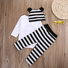 3pcs suit!! Rompers +Long Pants +Hats Cartoon